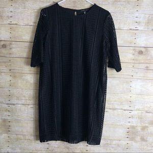 MANGO suit black line dress